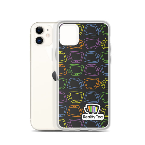 Reality Tea - Colorful Pattern on Black | iPhone Case - RT-Merch