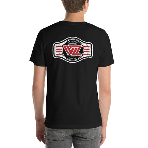 WrestleZone Belt, Distressed | Short-Sleeve Unisex T-Shirt - WZ-Merch
