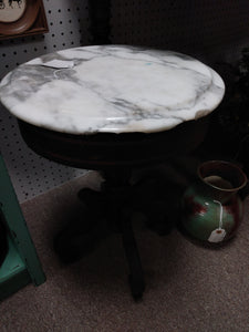 Marble top small mahogany eastlake style table (local pickup only)
