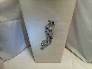 Rhinestone Peacock Pin
