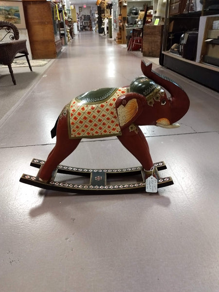 Hand-painted wooden elephant