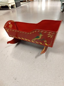Vintage Hand Painted Doll Cradle