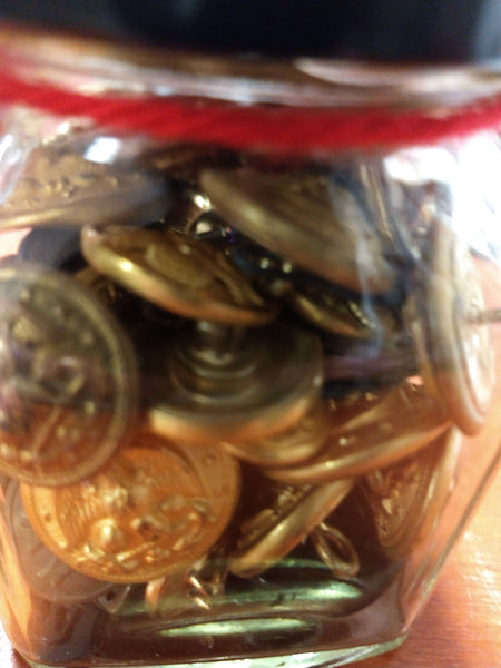Jar of Military Buttons