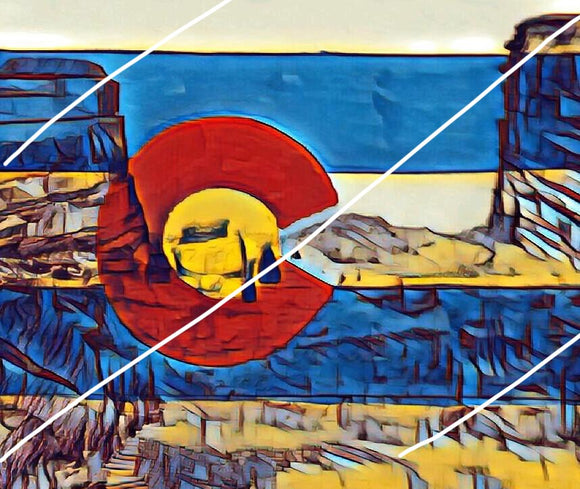 COLORADO FLAG [red rocks]