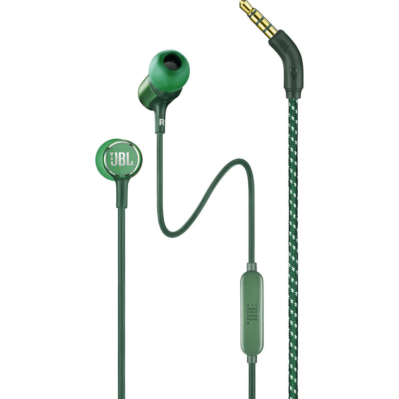 JBL LIVE 100 Wired Headphones (Green)