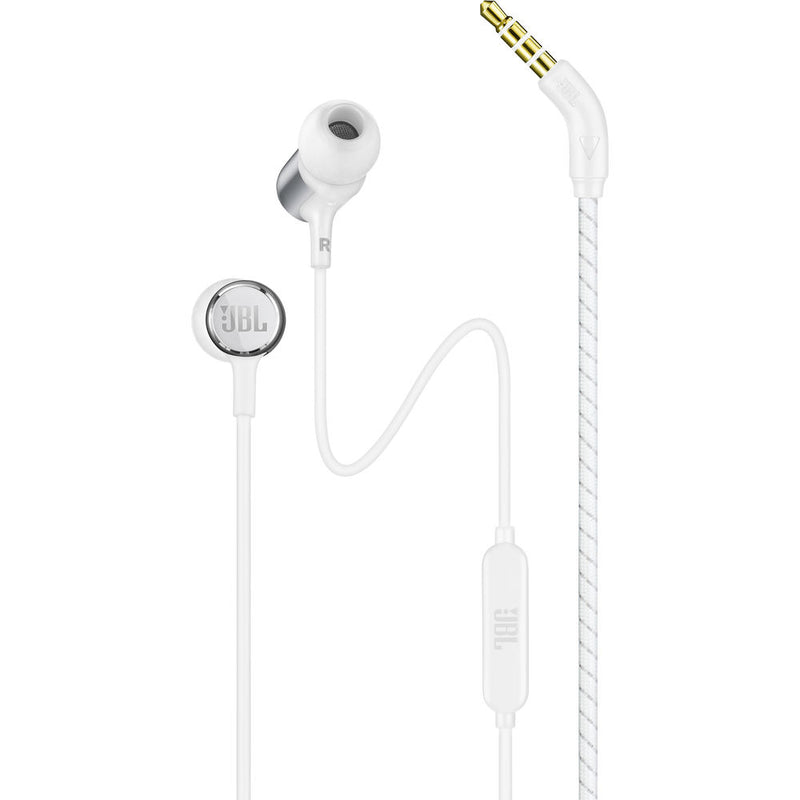JBL LIVE 100 Wired Headphones (White)