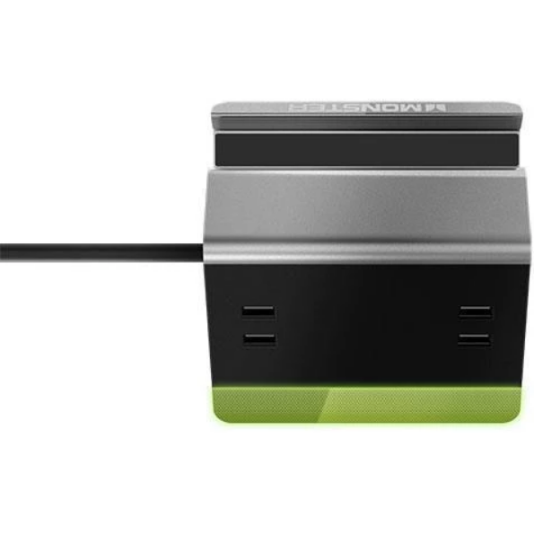 Monster Power Rapid Charging Station with 4 USB Ports