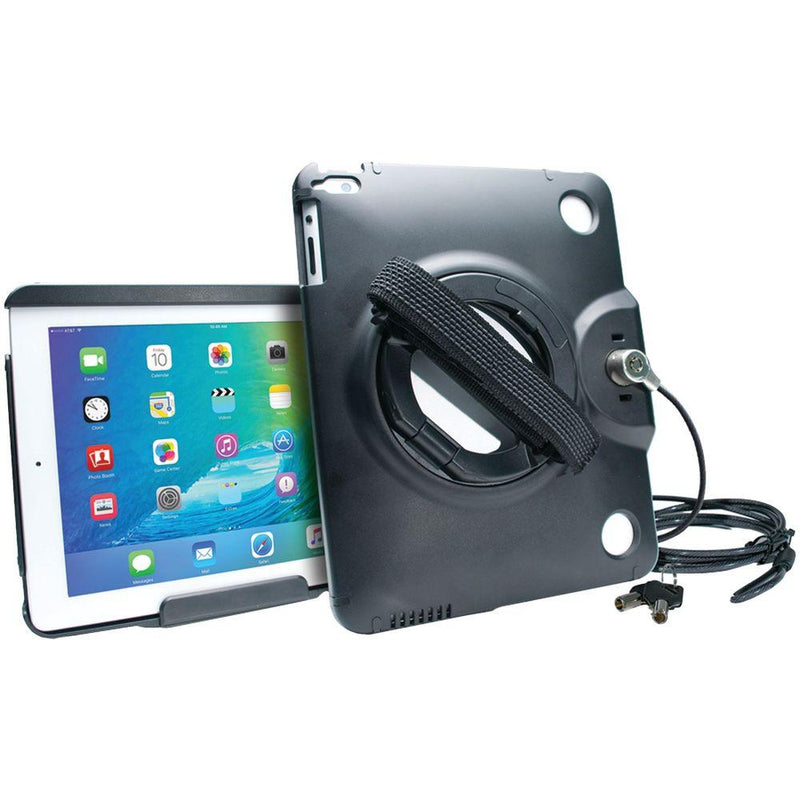 CTA Digital Anti-Theft Case with Built-In Grip Stand for iPad-iPad Air