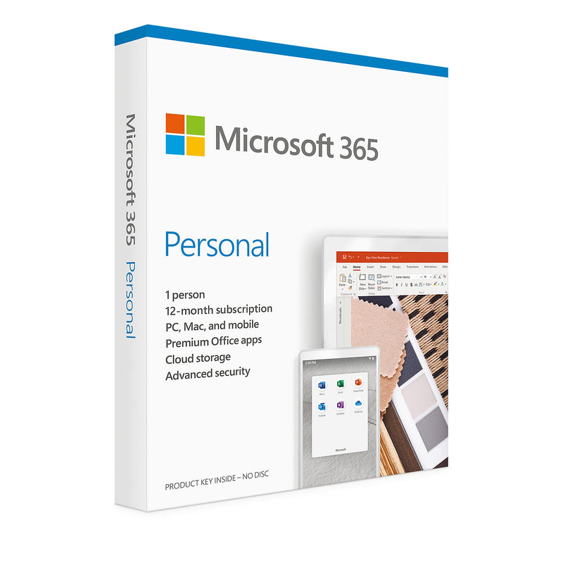 Microsoft 365 Personal for 1 User (1 Year) - Key Card Box