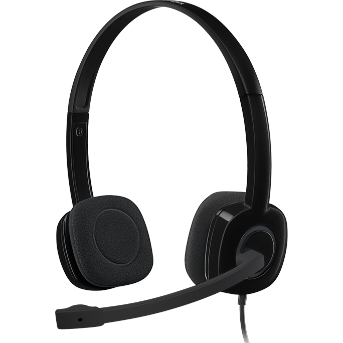 Logitech H151 Wired Headset (Black)