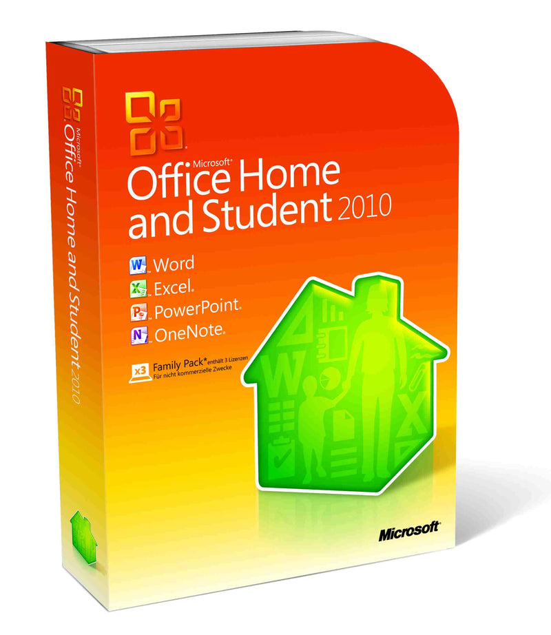 Microsoft Office 2010 Home and Student for 3 PC - Retail Box