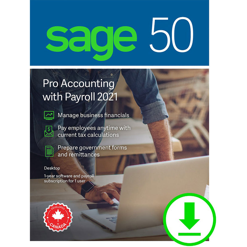 Sage 50 Pro Accounting 2021 with Payroll - Download