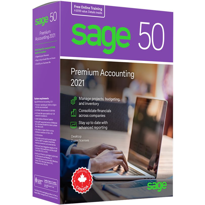 Sage 50 Premium Accounting 2021 - Retail Box