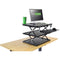 Uncaged Ergonomics Changedesk Adjustable Height Standing Desk Conversion (Black)