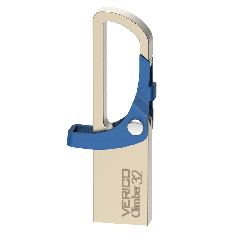 Verico VR15 Climber 32GB USB 2.0 Flash Drive (Champagne Blue)