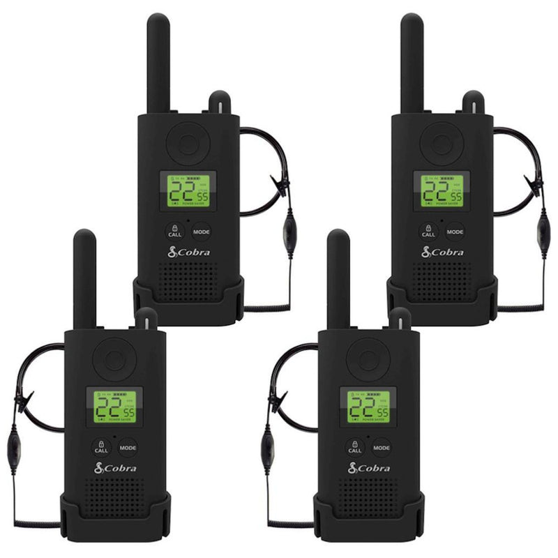 Cobra Pro PX500BC2-SV01 23-Mile Two-Way Radios With Surveillance Headset - 4 Pack