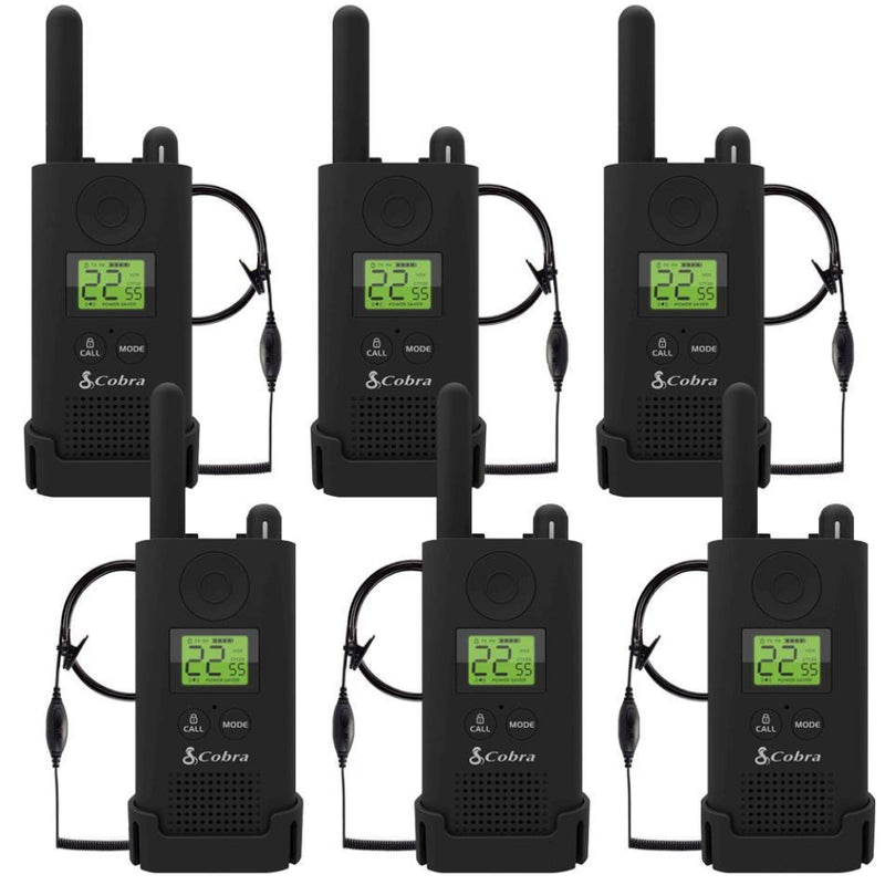 Cobra Pro PX500BC3-SV01 23-Mile Two-Way Radios With Surveillance Headset - 6 Pack