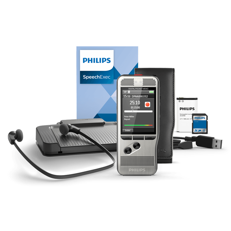 Philips DPM6700 Pocket Memo Dictation and Transcription Set
