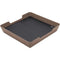 Eggtronic 10W Wireless Charging Valet Tray Soft (Brown Leather)