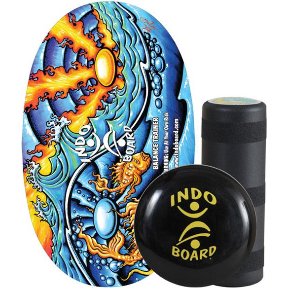Indo Board Original Training Pack with Roller & Cushion (Ying Yang)