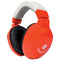 Lucid Audio Kids Hearmuffs 4 to 10 Years Adjustable Headphones (Red)