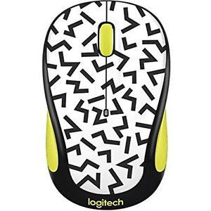 Logitech M325 Wireless Mouse (Yellow Zigzag)