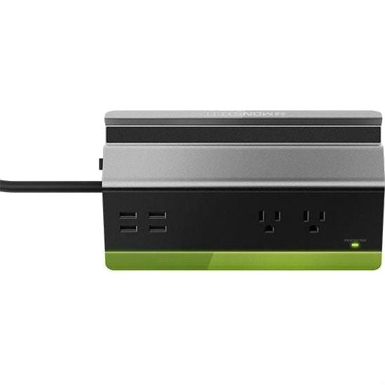 Monster Power Rapid Charging Station with 2-Outlets and 4 USB Ports