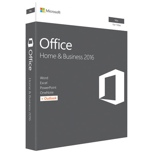 Microsoft Office 2016 for Mac Home and Business - Key Card Box