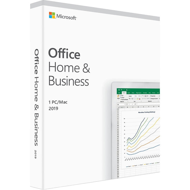Microsoft Office 2019 Home and Business for 1 PC/Mac - Key Card Box