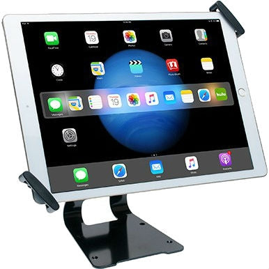 "CTA Digital Adjustable Anti-Theft Security Grip and Stand for 9.7-13"" Tablets"