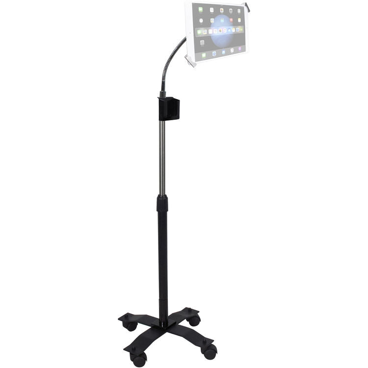 "CTA Digital Compact Security Gooseneck Floor Stand for 7-13"" Tablets"