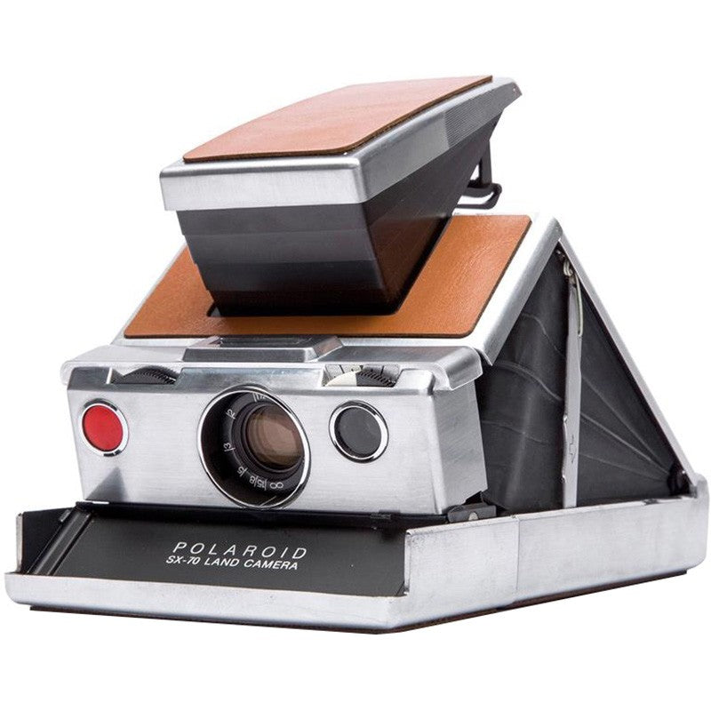 Polaroid SX-70 Instant Camera (Silver-Brown)