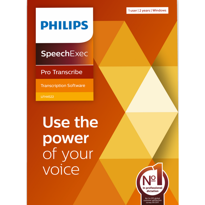 Philips SpeechExec Pro Transcribe Version 11.5 Software (2 Year Subscription) - Download