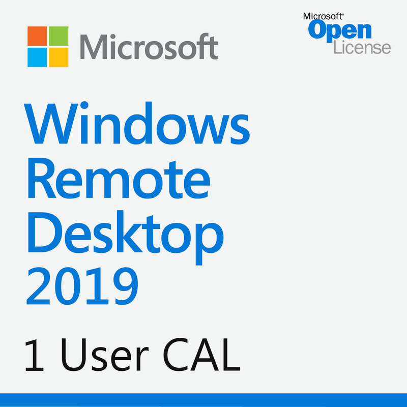 Microsoft Windows Remote Desktop Services 2019 1 User CAL - Open License