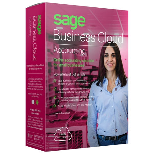 Sage Business Accounting (1 Year Subscription) - Retail Box