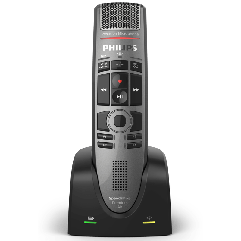 Philips SpeechMike Premium Air Wireless Dictation Microphone (Push Button)