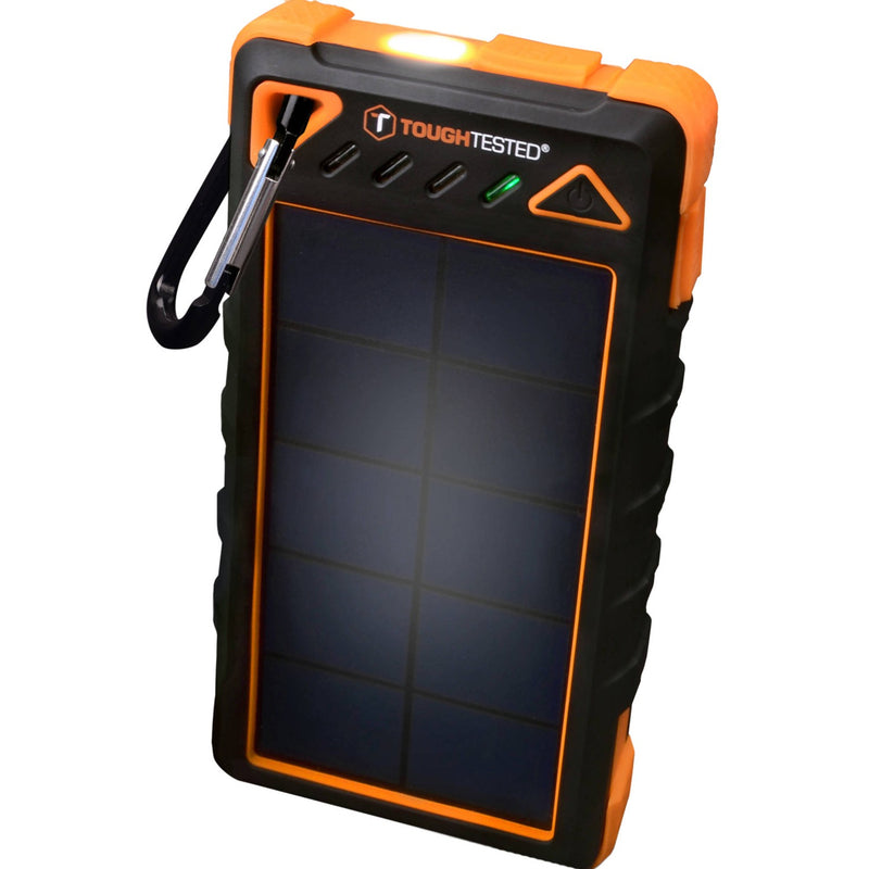 ToughTested 8000mAh Solar Power Bank with Flashlight