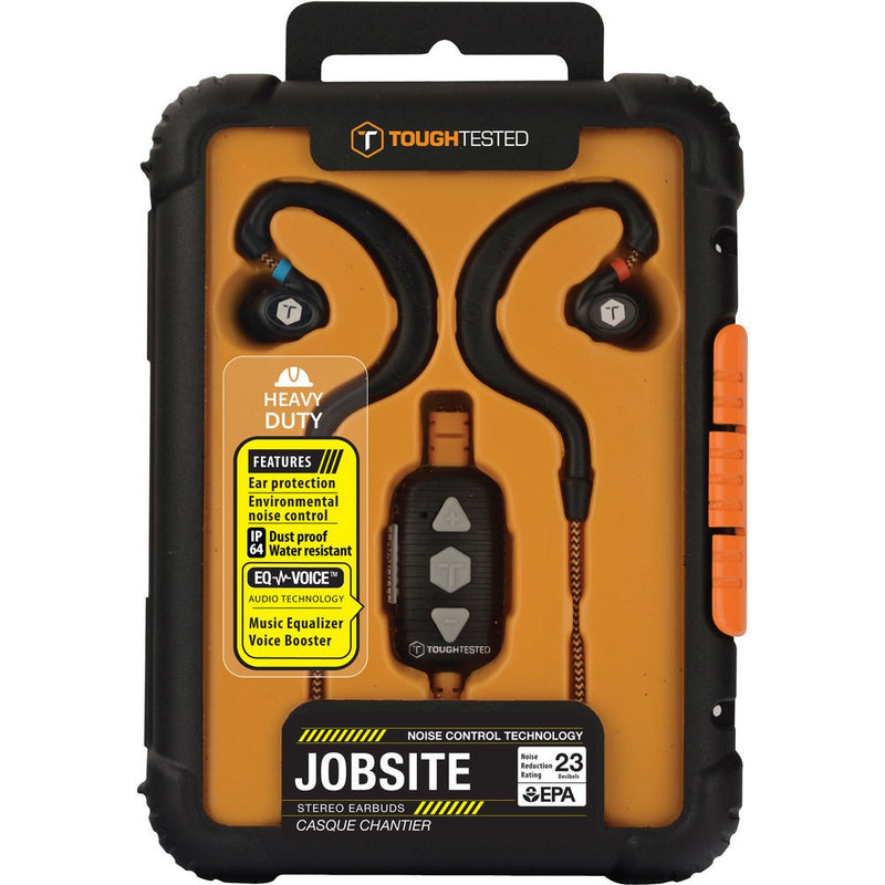 ToughTested Jobsite Noise-Isolating Earbuds with Microphone
