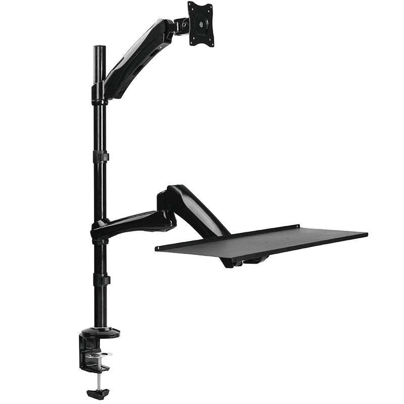 TygerClaw Single Monitor Sit-Stand Workstation