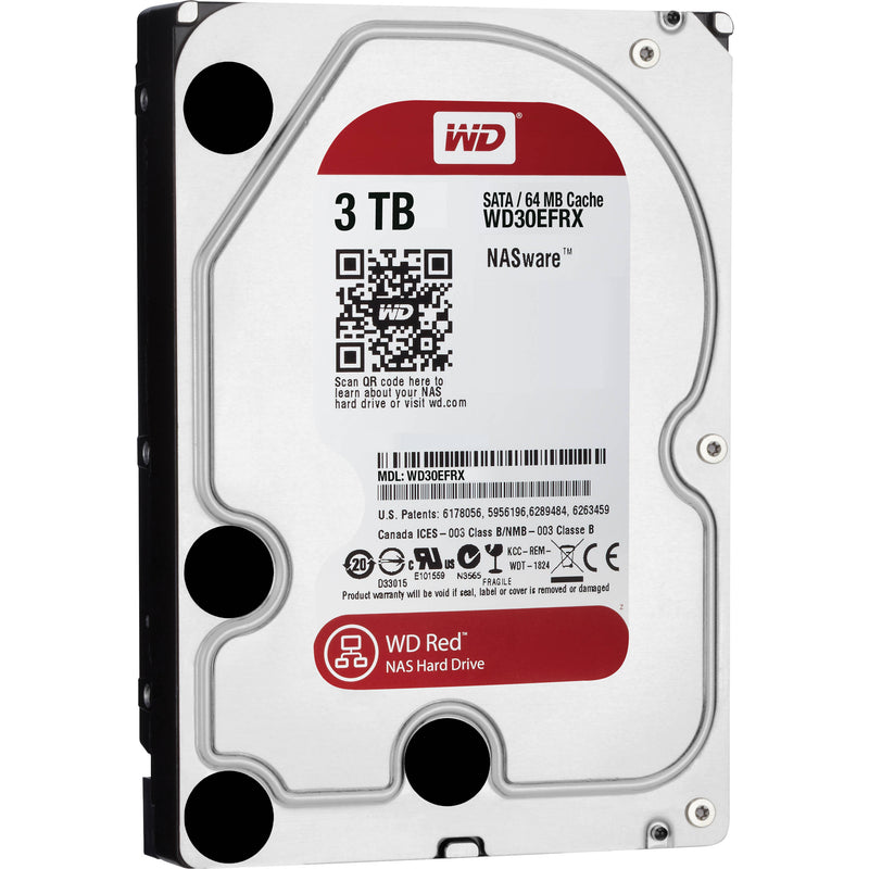 "Western Digital Red 3TB 64MB Cache SATA 6.0Gb/s 3.5"" NAS Internal Hard Drive"