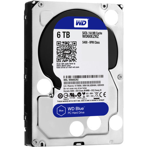 "Western Digital Blue 6TB 5400 RPM 64MB Cache SATA 6.0Gb/s 3.5"" Internal Hard Drive"