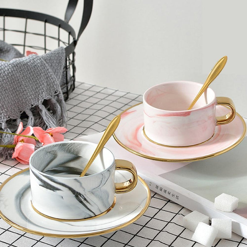Paxton Coffee Cup and Saucer Set