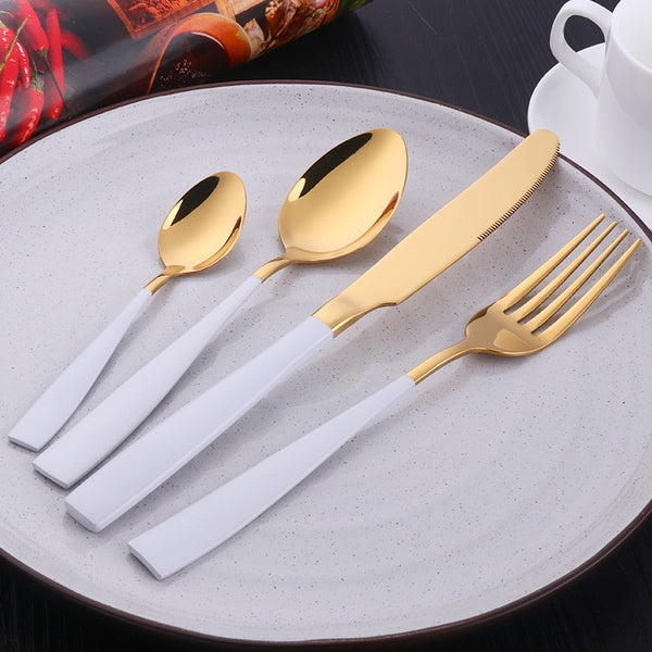 Gold Stainless Steel Cutlery Set