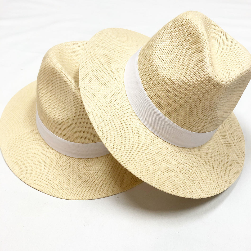 Panama White Trim Hat