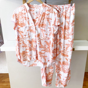 Summer Toile Coral Short Sleeve with Pants