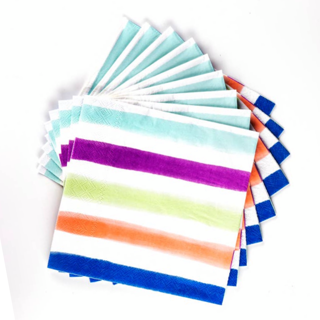 Stripe Paper Dinner Napkins