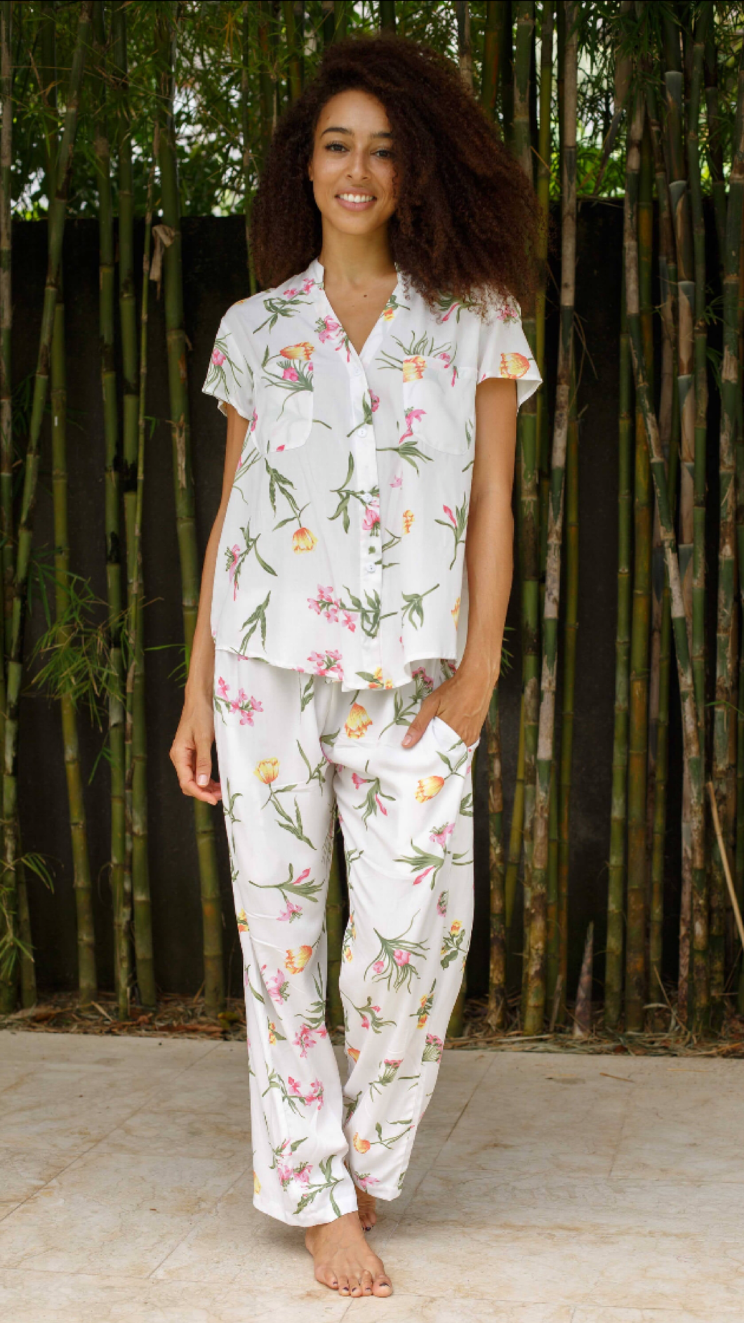 Wild Flower  Short Sleeve with Pants