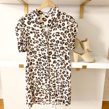 Load image into Gallery viewer, Leopard Puff Sleeve Dress