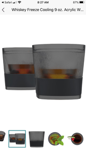 Glass Freeze Whiskey Glasses in Smoke