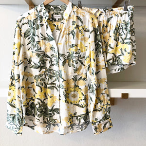 Botanical Yellow L/S with Shorts